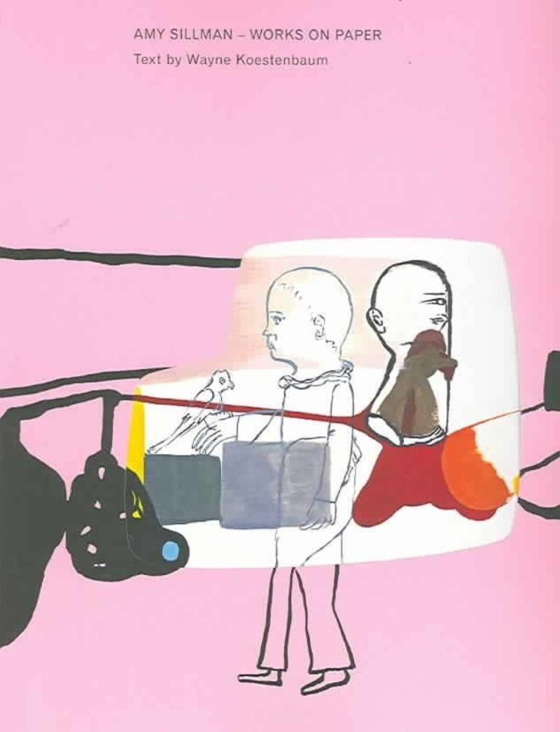 Book cover showing a figurative drawing of two people on a pink background