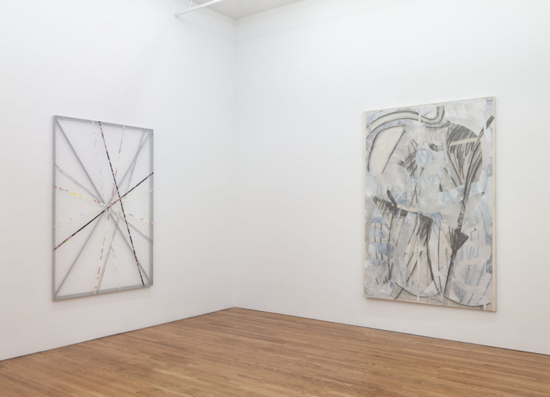Abstract painting by Christian Bonnefoi exhibited at Westreich Wagner curated by Campoli Presti New York