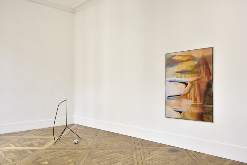 Artworks by Eileen Quinlan and Marina Rosenfeld exhibited at Campoli Presti Paris