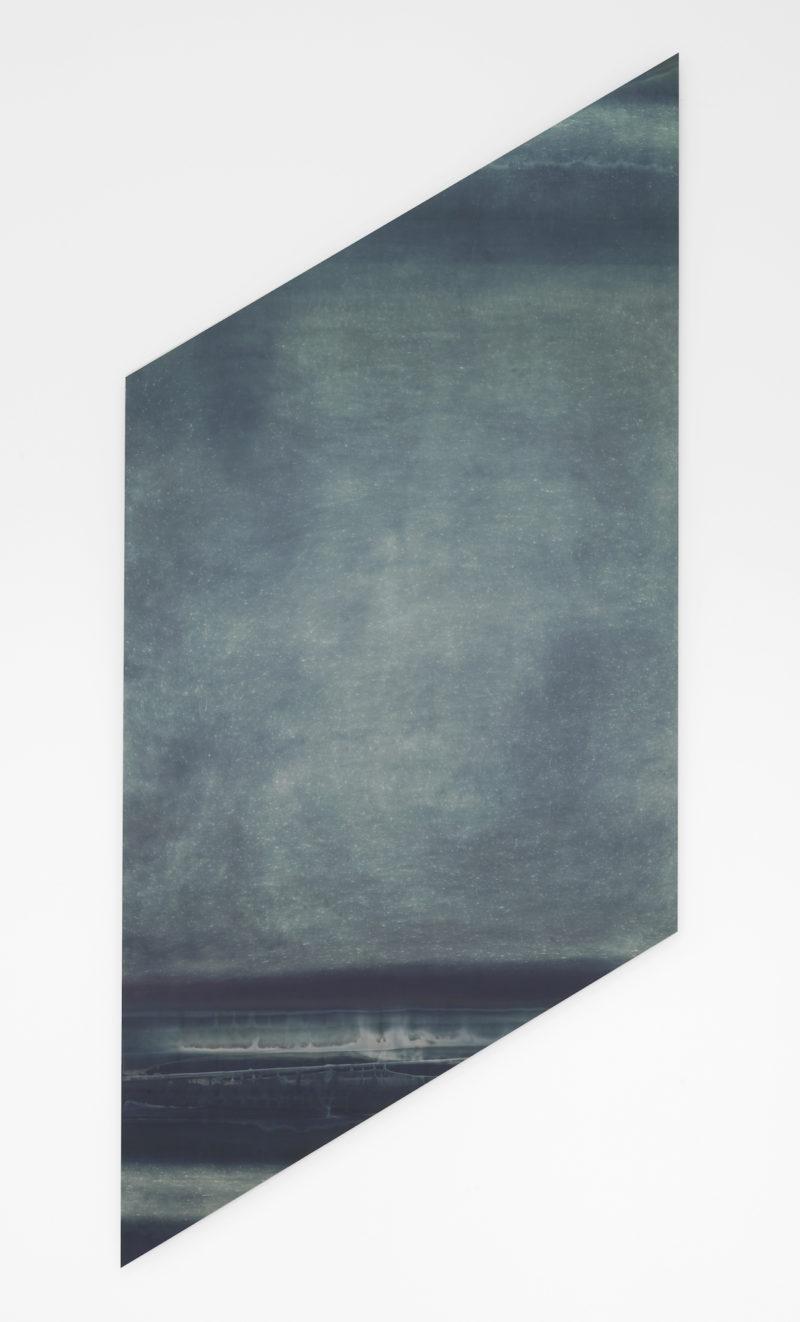 Abstract silver toned photogram Bracket by Liz Deschenes exhibited at Campoli Presti London 2013