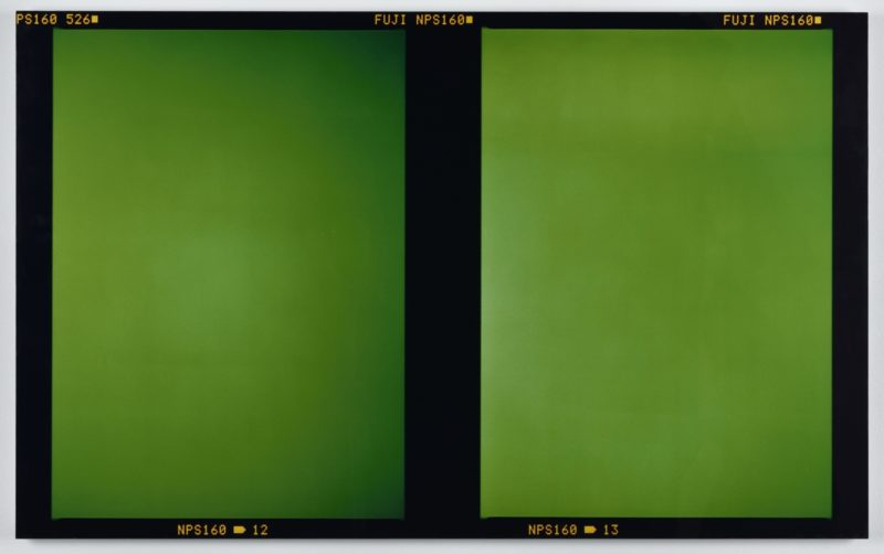 Abstract photograph fujiflex print by Liz Deschenes from 2003 exhibited in London in 2009