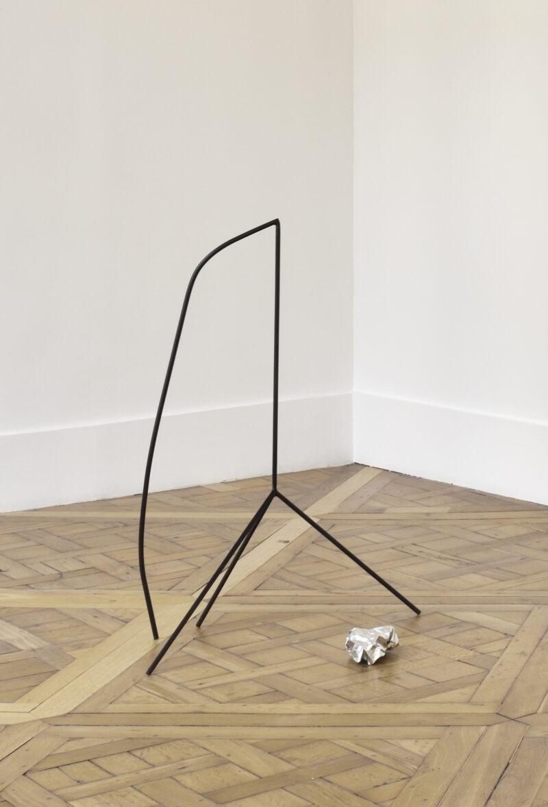 Installation by artist Marina Rosenfeld exhibited at Campoli Presti Paris