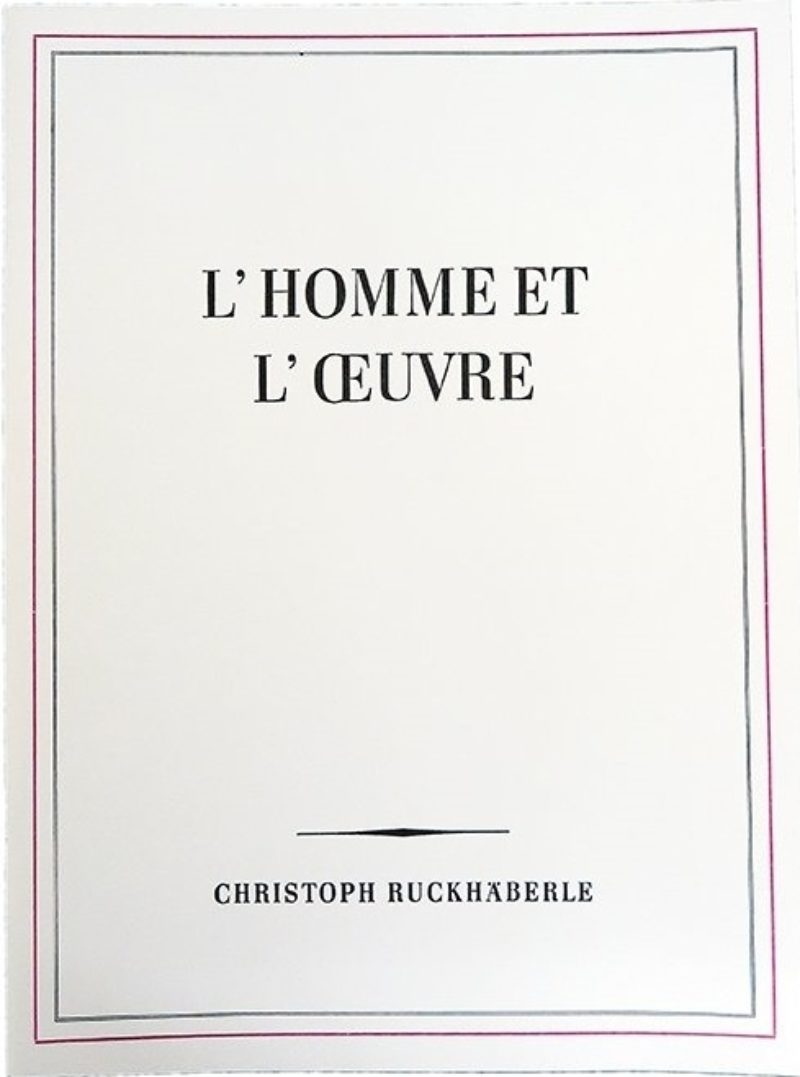 Image of L'homme et l'oeuvre