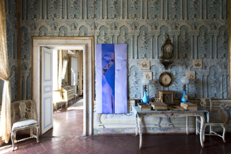 Abstract photography installation by Sara VanDerBeek Villa di Geggiano Siena Campoli Presti