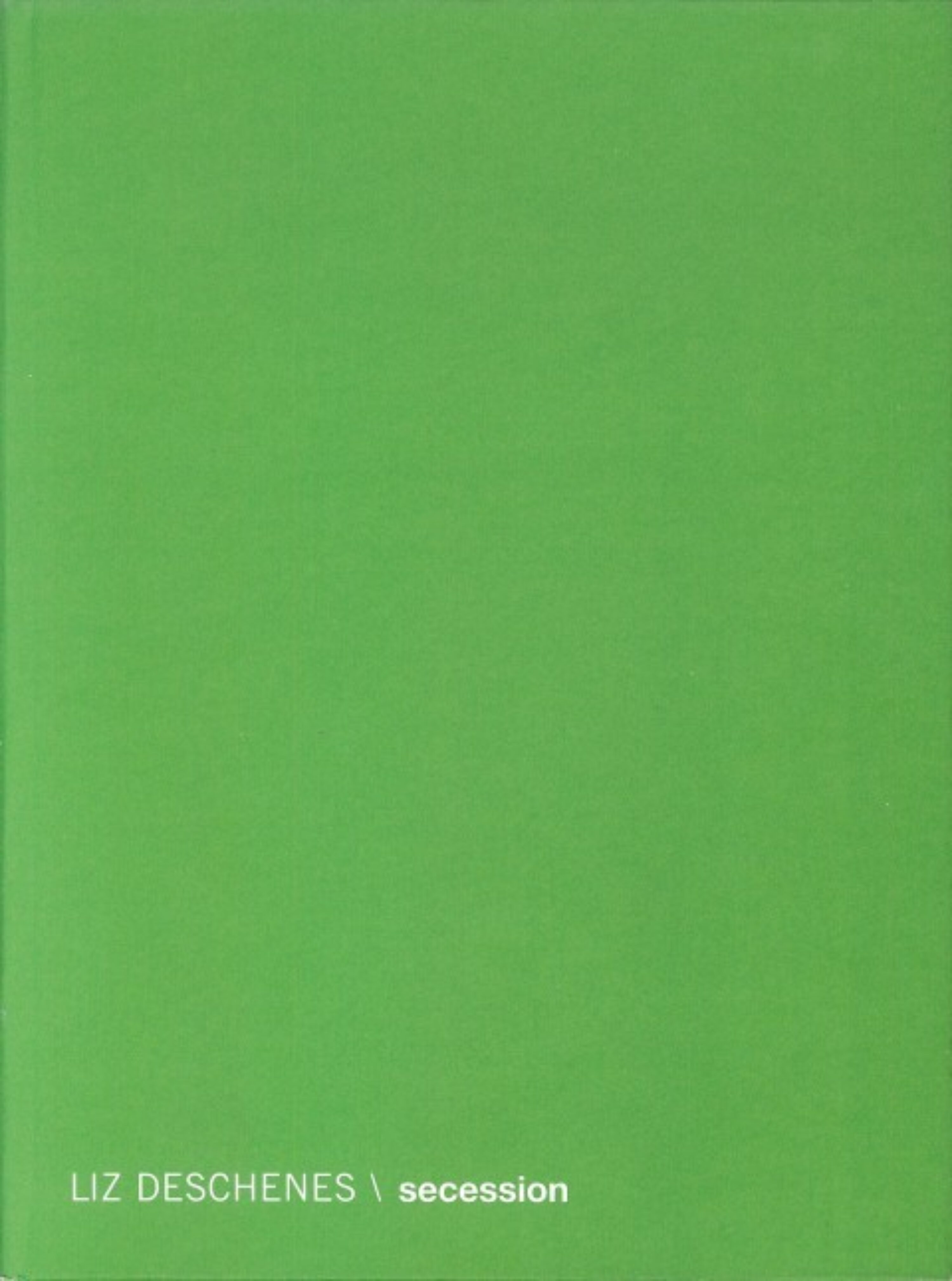 Image of the front cover of Liz Deschenes \ Secession