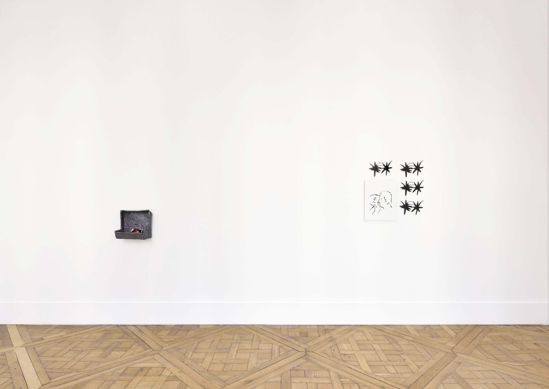 Two artworks by artists Nick Mauss and Kianja Strobert